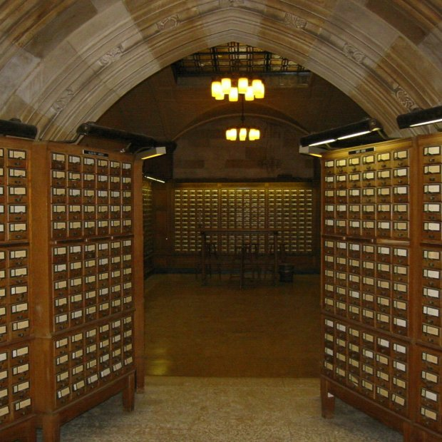 Libraries can be inspirational.  (Photo is in the public domain.)